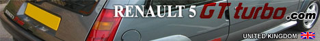 RENAULT5GTTURBO.COM, UK, site, with, everything, you, need, to, know, about, the, GT, Turbo,, Huge, Gallery,, Tips, on, Maintenance,, Buying,, Interactive, Wheel, Guide,, Other, Performance, Renault, Galleries,, History,, Renault, Sport, Forum,, Babe, Gallery, and, much, more, !,